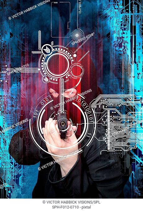 Data security, illustration