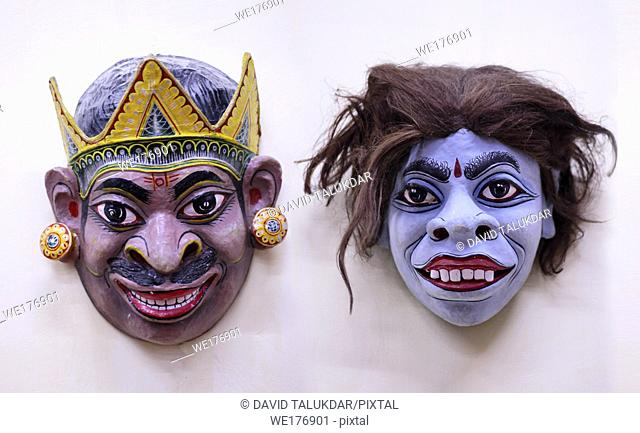 Masks The traditional craft from Assam. Mainly materials like bamboo and cane, cloth, clay and rock color etc are used for making masks