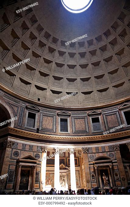 3PM Pantheon Rome Italy Basilica Palatina uilt in 27BC by Agrippa Oldest church in Rome The Cupola Oculus Hole in the Ceiling has a sundial effect At 3PM every...