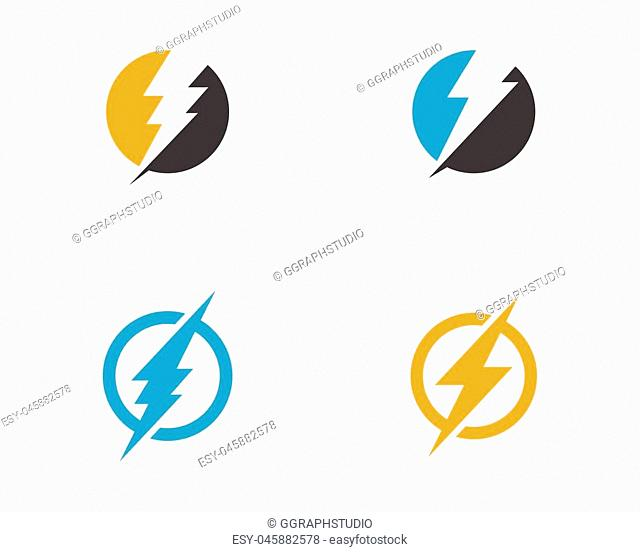 Lightning Logo Template vector icon illustration design