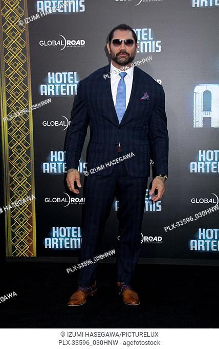"Dave Bautista 05/19/2018 The Los Angeles premiere of """"Hotel Artemis"""" held at the Regency Bruin Theatre in Los Angeles, CA Photo by Izumi Hasegawa / HNW /..."