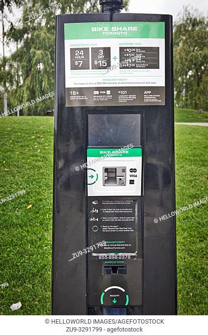 Bike Share Toronto self service vending machine, Toronto, Ontario, Canada