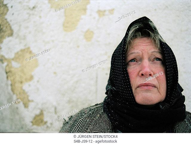 Senior woman with kerchief