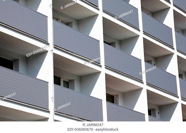 Facade of a residential building, Slovakia