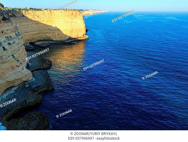 Summer Atlantic rocky coastline (Portugal)