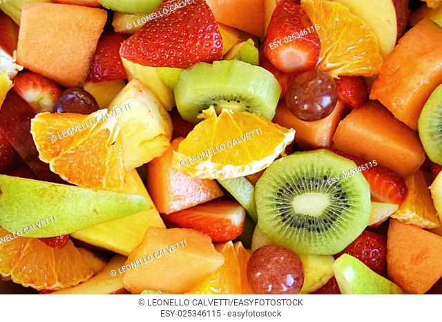 Fruit salad close up