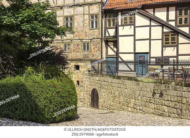 Castle and Monastery buildings on Schlossberg in Quedlinburg, Saxony-Anhalt, Germany