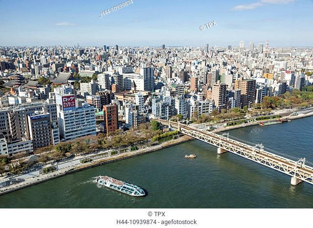 Japan, Honshu, Kanto, Tokyo, Asakusa Area Skyline