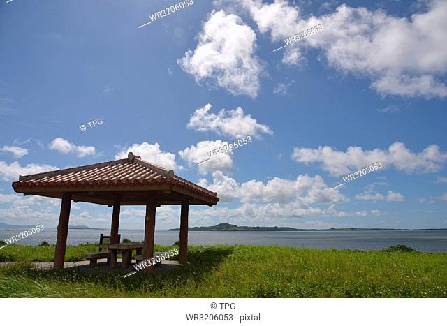 Pavilion in the Iriomote Island; Japan; pavilion