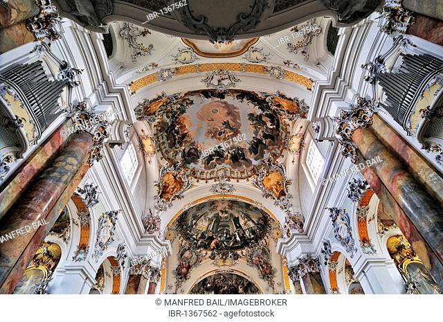 Basilica of the Benedictine Abbey in Ottobeuren, Bavaria, Germany, Europe