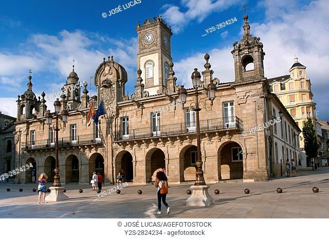 Main square and City Councill, Lugo, Region of Galicia, Spain, Europe