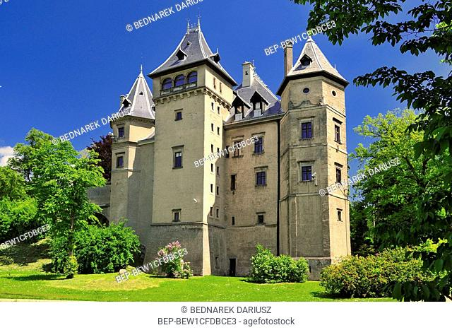 Castle in Goluchow, village in Geater Poland Voivodeship