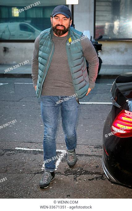 SAS TV Presenter Ant Middleton leaving BBC Radio Two studios after promoting his new upcoming UK tour - London Featuring: Ant Middleton Where: London