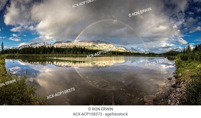 Rainbow reflection, Peter Lougheed Provincial Park, Alberta, Canada (digitally spliced panorama)