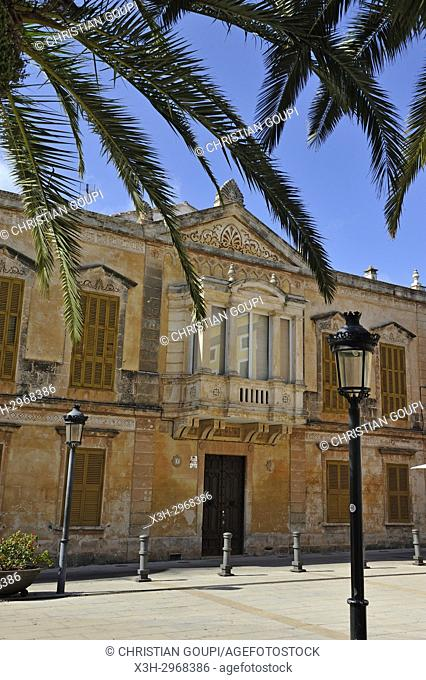 Alfonso III square, Ciutadella de Menorca, Menorca, Balearic Islands, Spain, Europe