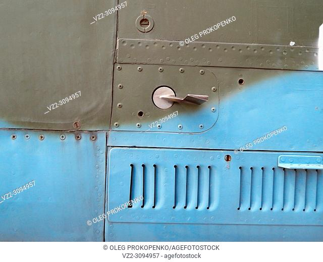 Aviation textures plating of aircraft and helicopter rivets
