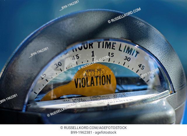 Violation On Analog Mechanical Parking Meter