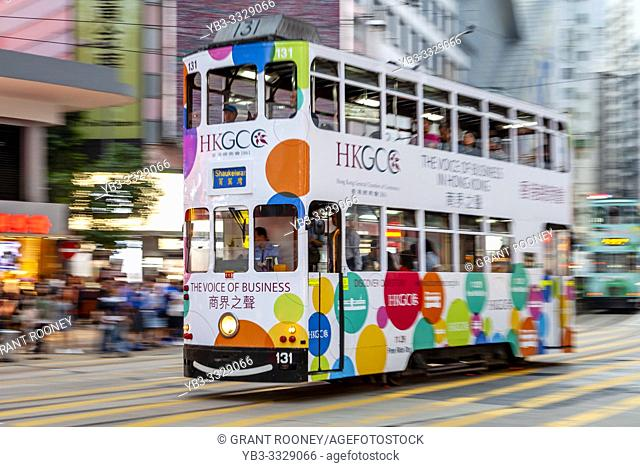 A Traditional Hong Kong Electric Tram, Hong Kong, China
