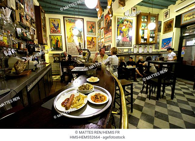 Spain, Andalusia, Seville, Santa Cruz District, Casa Placido, tapas bar
