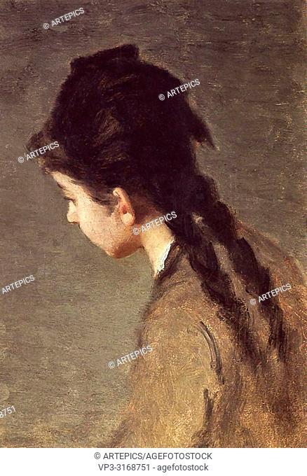 Gonzales Eva - Portrait of Jeanne Gonzales in Profile