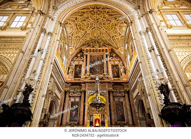 Main chapel, Catholic section, Mosque-Cathedral, Cordoba, Andalusia, Spain