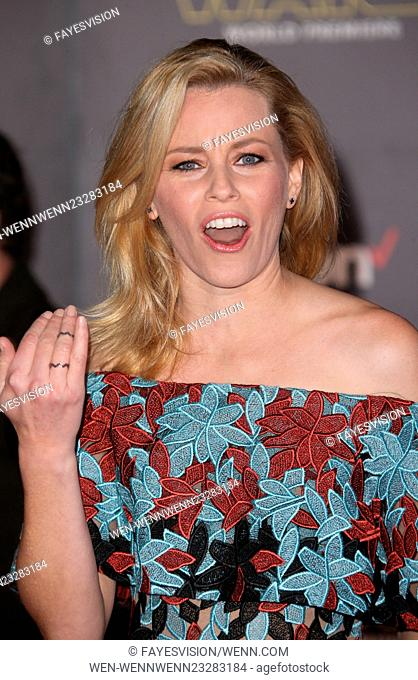 """Premiere Of Walt Disney Pictures And Lucasfilm's """"""""Star Wars: The Force Awakens"""""""" Featuring: Elizabeth Banks Where: Hollywood, California"""