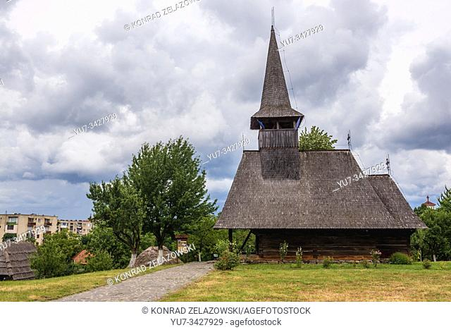 17th century wooden church from Lechinta village in Oas Village Museum located in Negresti-Oas town in the county of Satu Mare in Romania