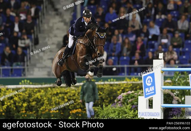 firo: 16.09.2021, equestrian sport, Aachener Soers horse show, CHIO 2021, show jumping, Mercedes-Benz Nations Cup, Jens FREDERICSON, Sweden