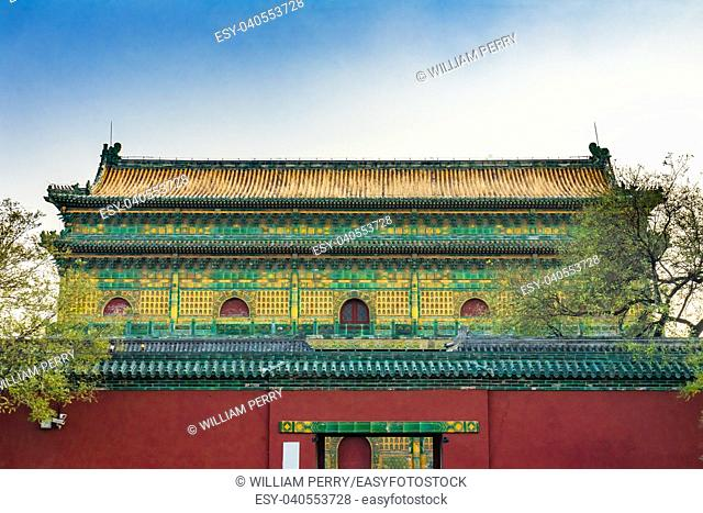 Old Qing Library Archives Beijing China Behind Beihai Park, Library from the Qing dynasty is now an archives.
