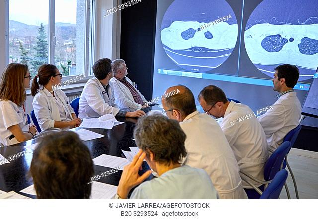 Committee of Tumors, Oncology, clinical session, Hospital Donostia, San Sebastian, Gipuzkoa, Basque Country, Spain