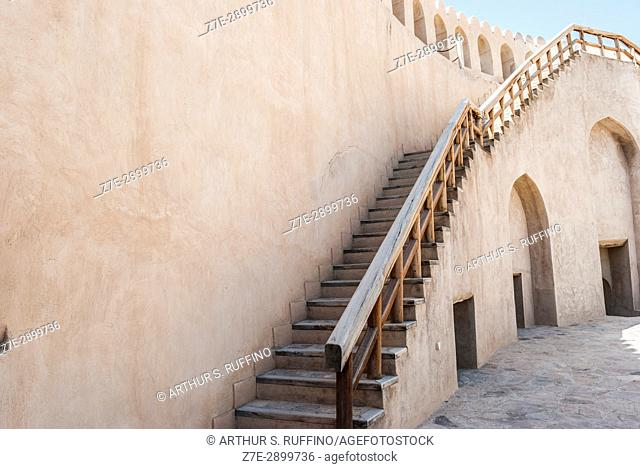 Staircase to main tower battlement, Nizwa Fort, Nizwa, Ad Dakhiliyah Governorate, Oman