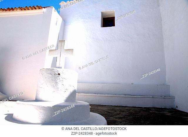 San Joan de Labritja church Ibiza island Balearic islands Spain