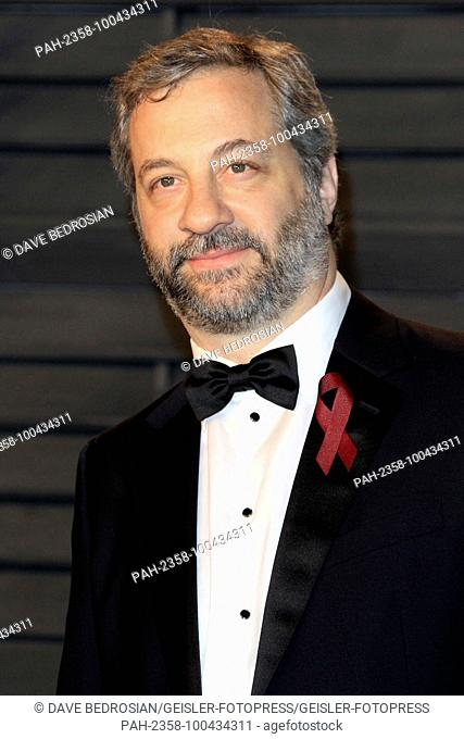 Judd Apatow attending the 2018 Vanity Fair Oscar Party hosted by Radhika Jones at Wallis Annenberg Center for the Performing Arts on March 4