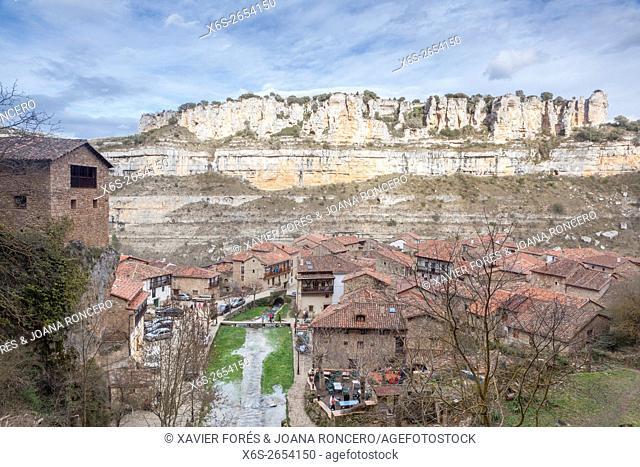 Orbaneja del Castillo village, Paramos region, Burgos, Spain