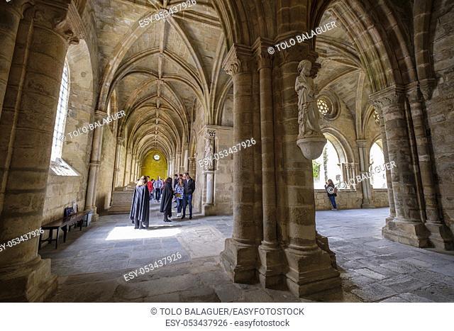 claustro, construido entre 1317 y 1340, estilo gótico, catedral de Évora, Basílica Sé Catedral de Nossa Senhora da Assunção, Évora, Alentejo, Portugal