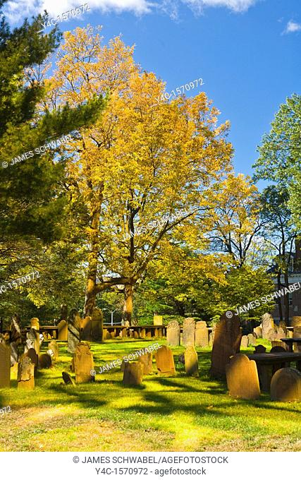 Ancient Burying Ground at Center Church in Hartford Connecticut