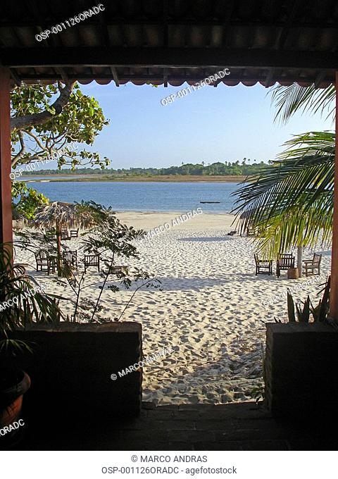 a view of jericoacoara beach from a restaurant house
