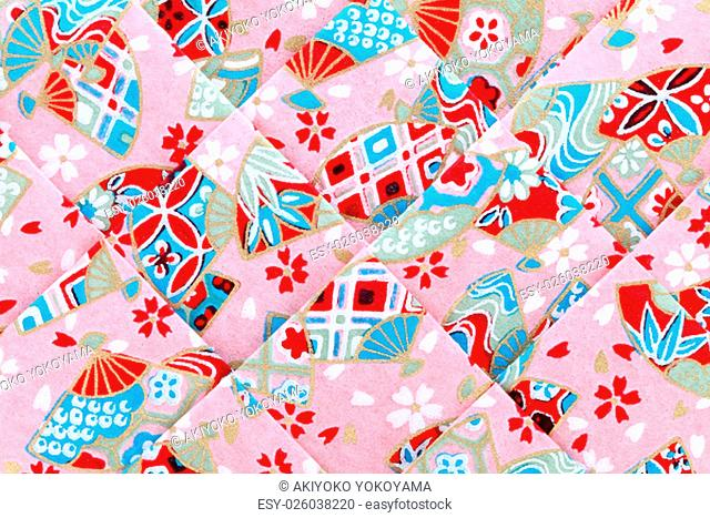 Japanese origami paper texture background