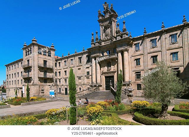 Convent of San Martin Pinario - 16th Century, Santiago de Compostela, La Coruña province, Region of Galicia, Spain, Europe