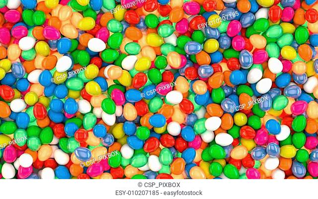 Colourful Candy Eggs Texture