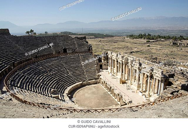 View of amphitheatre at Hierapolis, Cappadocia, Anatolia,Turkey