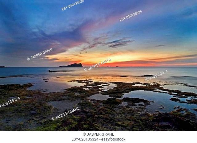 Sonnenuntergang an der Cala Conta Ibiza