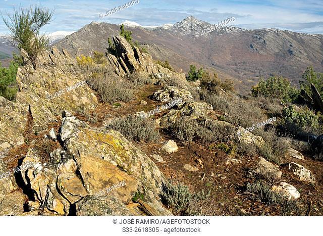 Santuy peak in the Sierra Norte. Montejo de la Sierra. Madrid. Spain. Europe