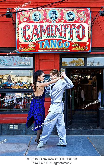 Argentina, Buenos Aires, Caminito, La Boca,Tango dancers
