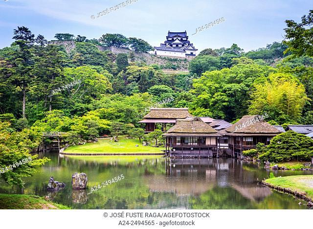 Japan, Shiga Province, Hikone City, Tea Houses and Hikone Castle