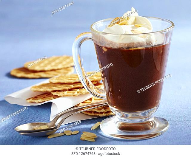 Frisian Pharisee (hot coffee with rum and cream)