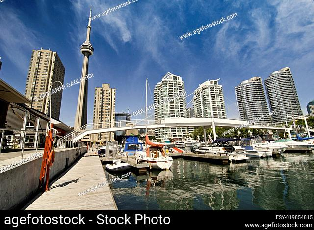 View of Toronto from a Pier, Canada