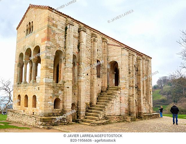 Church of St Mary at Mount Naranco, Oviedo, Asturias, Spain