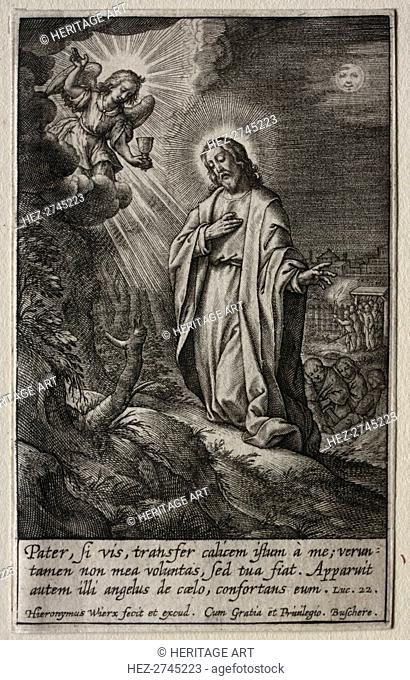 The Passion: Christ on the Mount of Olives. Creator: Hieronymus Wierix (Flemish, 1553-1619)