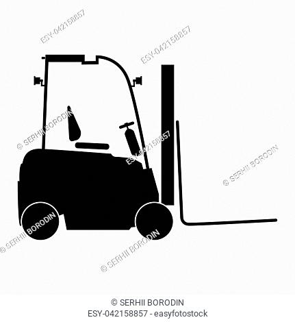 Electric loader it is the black color icon